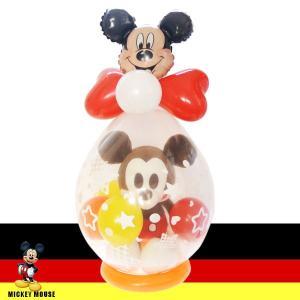 バルーン電報 ミッキーマウス たまごバルーンギフト 誕生日 出産祝い 結婚祝い 開店祝い ぬいぐるみバルーン|windpal