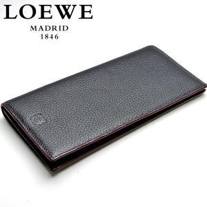 【訳アリ・アウトレット:シミあり】【LOEWE】ロエベ メンズ長財布(小銭入れ付き) BLACK/ブラック メンズ(123-26-978-1100)|windpal
