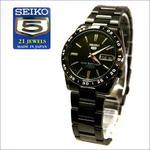 【SEIKO】セイコー アナログ自動巻き腕時計 SEIKO5 Made in Japan メンズ ブラック SNKE03J1(SNKE03J1)|windpal
