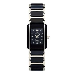 【TECHNOS】テクノス レディースウォッチ 薄型腕時計 ブラック×シルバー TAL742TB(TAL742TB)|windpal