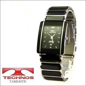 【TECHNOS】テクノス メンズウォッチ 薄型腕時計 ブラック×シルバー TAM530TB(TAM530TB)|windpal