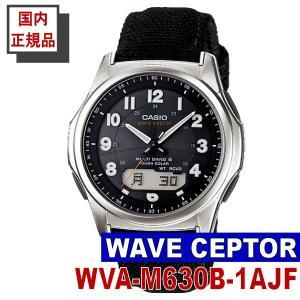 CASIO カシオ 腕時計 WAVE CEPTOR 電波タフソーラー マルチバンド6 クロスバンド 国内正規品 (WVA-M630B-1AJF)|windpal