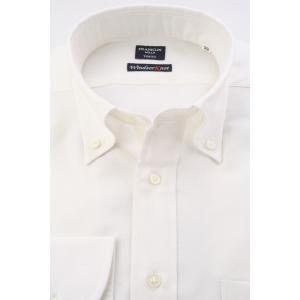(フランクリンミルズ) FRANKLIN MILLS オックスのボタンダウンドレスシャツ 白無地 綿100% 日本製 Italian Slim windsorknot
