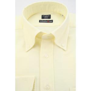 (フランクリンミルズ) FRANKLIN MILLS オックスのボタンダウンドレスシャツ イエロー無地 綿100% 日本製 Italian Slim windsorknot