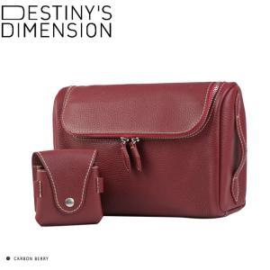 (デスティニーズ ディメンション) DESTINY'S DIMENSION 「Monterey」 ゴルフボールケース付ポーチ (シボ革) BREATHLESS RED windsorknot