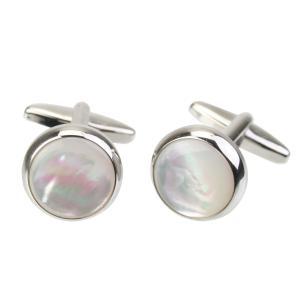 (エリザベス・パーカー) Elizabeth Parker ホワイト 白蝶貝 カフリンクス|windsorknot