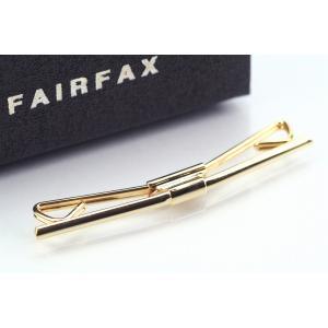 (フェアファクス) FAIRFAX ケース付 カラーバー、カラークリップ ゴールド 日本製|windsorknot