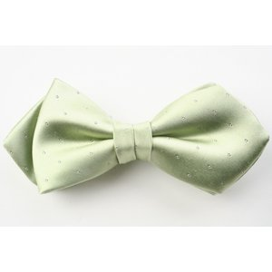 (フェアファクス) FAIRFAX サテン ピンドットの蝶ネクタイ 淡いグリーン シルク100% 日本製 フォーマル 礼装 バタフライタイ、ボウタイ、チョータイ|windsorknot