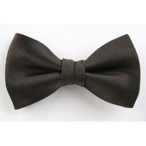(フェアファクス) FAIRFAX ブラウン サテン無地の蝶ネクタイ イタリー生地使用 礼装 バタフライタイ、ボウタイ、チョータイ windsorknot