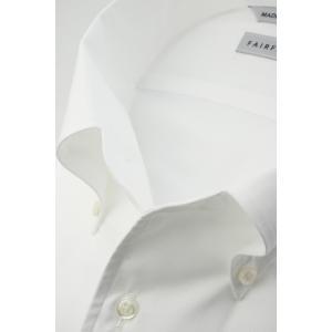691c82a0c5c07e ... (フェアファクス) FAIRFAX ワンピースカラーの半袖ボタンダウンシャツ 白無地 ロイヤルオックス ...