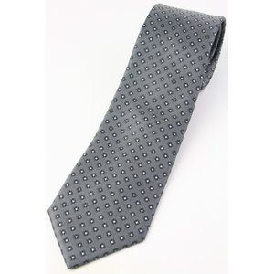 (フランクリンミルズ) FRANKLIN MILLS 小紋柄のネクタイ グレー系 シルク100% 日本製 ジャカードタイ|windsorknot