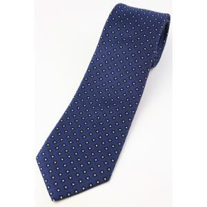 (フランクリンミルズ) FRANKLIN MILLS 小紋柄のネクタイ ネイビー系 シルク100% 日本製 ジャカードタイ|windsorknot