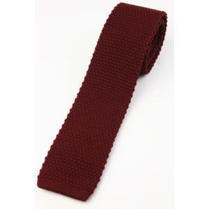 (フランクリンミルズ) FRANKLIN MILLS ウール無地のニットタイ レッド系 日本製 ネクタイ|windsorknot