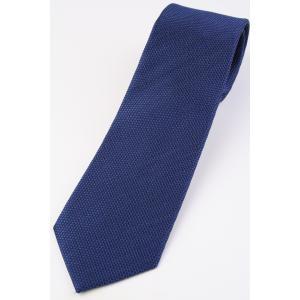 (フランクリンミルズ) FRANKLIN MILLS メランジ糸のウーリーなソリッドタイ ブルー系 シルク100% 無地 ネクタイ|windsorknot