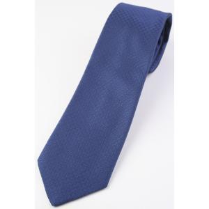 (ペトロニウス) PETRONIUS 織柄無地のネクタイ インクブルー系 シルク100% イタリア製 ソリッドタイ|windsorknot