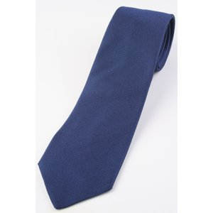(ペトロニウス) PETRONIUS バスケット織のソリッドタイ インクブルー系 シルク100% イタリア製 無地 ネクタイ|windsorknot