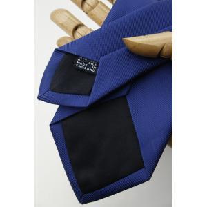 (ドレイクス) DRAKE'S 50オンス ロイヤルツイル ソリッドタイ ブルー 無地 ネクタイ 英国製 ハンドメイド 正規取扱店|windsorknot|04