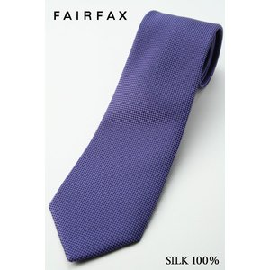 (フェアファクス) FAIRFAX 人気の無地ネクタイ(ラベンダー寄りの、パープル系) シルク100% バスケット織り|windsorknot