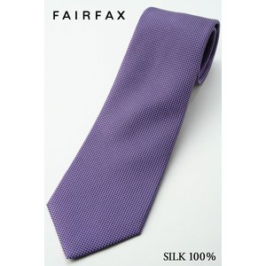 (フェアファクス) FAIRFAX 明るめ、ラベンダー系、人気の無地ネクタイ シルク100% バスケット織り|windsorknot