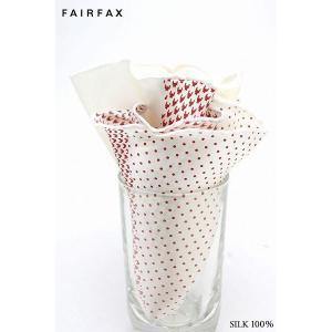 フェアファクス FAIRFAX パールホワイト 丸型 ポケットチーフ
