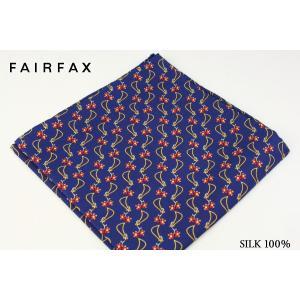 (フェアファクス) FAIRFAX アクセサリー ヴィンテージプリントのポケットチーフ パープル系 ...
