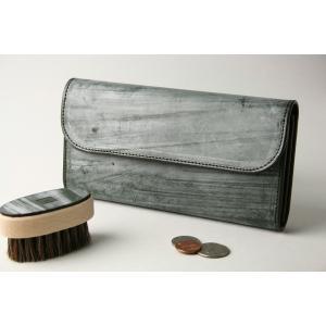 (ファイブウッズ) FIVE WOODS CASK キャスク ロングウォレット 「LONGWALLET」 グリーン系 日本製 ブライドルレザー 本革 メンズ 財布 38057 windsorknot