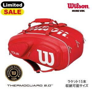 【SALE】ウイルソン TOUR V 15 PACK RED(WRZ867615)[Wilson ラケットバッグ 15本収納]|windsorracket-online