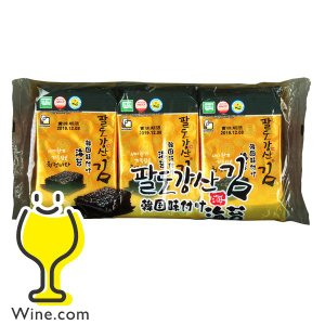 おかず つまみ のり ヒトシナ商事 韓国味付け海苔 8切8枚3袋×1個|wine-com