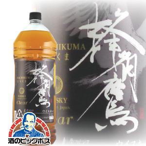 洋酒 国産ウイスキー whisky 4l 大容量 蜂角鷹 はちくま 4000mlペットボトル ブレン...