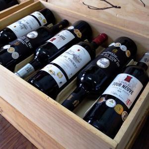 ワインセット,ワイン木箱入り金メダル受賞ボルドーワイン6本セ...