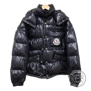 国内正規   MONCLER モンクレール K2 胸元ロゴワッペン フード付ダウンジャケット 0 ブラック メンズ|wine-king