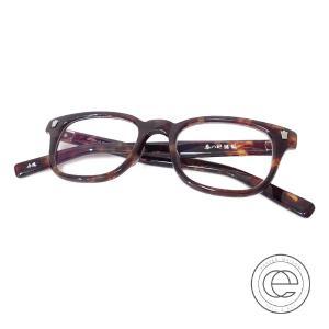 新品同様  uniform experiment ユニフォームエクスペリメント x 泰八郎謹製 UE-167103 メガネフレーム 眼鏡 ブラウン系 wine-king