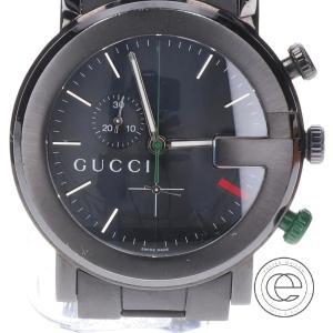 ○GUCCI グッチ 101M クロノグラフ クオーツ腕時計 ブラック メンズ|wine-king