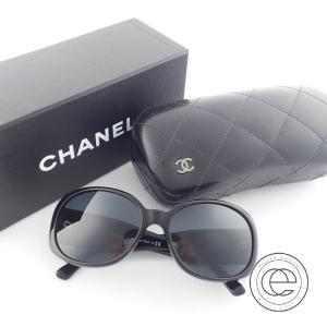 CHANELシャネル  5113-A  カメリア×CCマーク セルフレーム  サングラス56□16  ブラック  レディース|wine-king