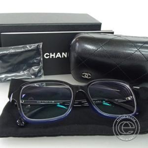 CHANEL シャネル CH3339 1558 大振りスクエア ツートーン メガネフレーム ブラック/ブルー プラスチック wine-king