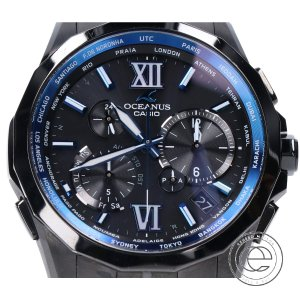 CASIO カシオ OCW-S2400-1AJF OCEANUS MANTA オシアナスマンタ マルチバンド6 タフソーラー電波 腕時計 ブラック メンズ|wine-king