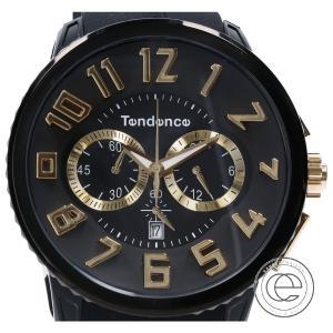 美品  Tendence テンデンス TG46001 GULLIVER ガリバーラウンド クロノグラフ クオーツ腕時計 ブラック メンズ|wine-king
