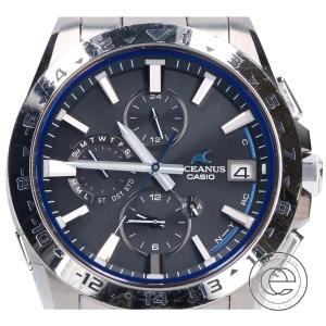 CASIO カシオ OCW-T3000-1AJF OCEANUS オシアナス マルチバンド6 タフソーラー電波 腕時計 シルバー メンズ|wine-king