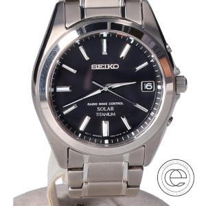 SEIKO セイコー セイコーセレクション SBTM217 cal.7B52 SPIRIT スピリット ブラック文字盤 ソーラー電波 腕時計 シルバー メンズ|wine-king