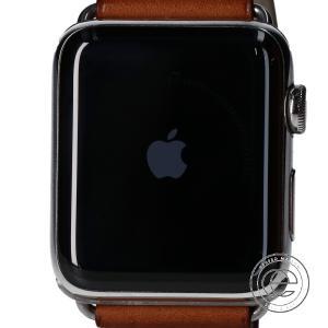 美品  HERMES エルメス APPLE WATCHアップルウォッチ MNUF2J/A SERIES 2 GPS 42MM SSケース シンプルトゥール スマートウォッチ 腕時計|wine-king