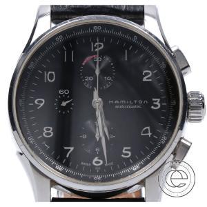 HAMILTON ハミルトン H327160 ジャズマスター SSケース クロノグラフ シースルーバック 自動巻き 腕時計 シルバー メンズ|wine-king