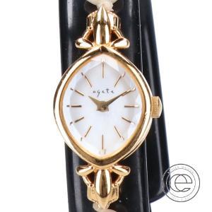 agete アガット 10124120312 淡水パールベルト ホワイトシェル文字盤 ジュエリーウォッチ 腕時計 ゴールド レディース|wine-king