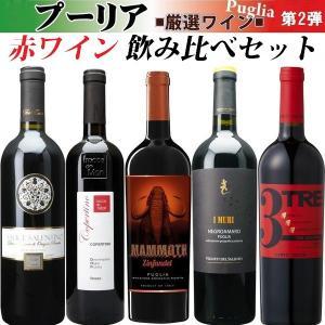 送料無料 イタリア プーリア産 赤ワイン飲み比べセット 第2...