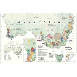 DE LONG オーストラリア ワインマップ[ Wine Map of Australia ] UH109MP