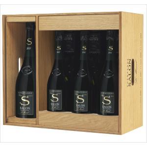 サロン ブラン ド ブラン マグナム 2008年 サロンを含むアソートセット(シャンパン)(木箱)(正規品)2008(1500ml)x1本/2007 x2本/2006 x2本/2004 x2本|winecellarescargot