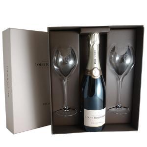 ルイ ロデレール プルミエ デュオ 2グラスセット N.V年 ルイ ロデレール(シャンパン)(ギフトボックス)(お歳暮)(グラス&ワインギフト)|winecellarescargot
