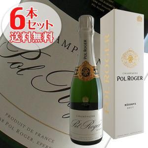 (送料無料)6本セット ポル ロジェ ブリュット レゼルブ ギフトボックス ハーフ N.V年 ポル ロジェ375ml(シャンパン)(正規品)|winecellarescargot