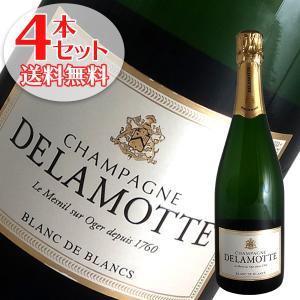 (送料無料)4本セット ドゥラモット ブラン ド ブラン N.V年 ドゥラモット(シャンパン)(箱無し)(正規品) winecellarescargot