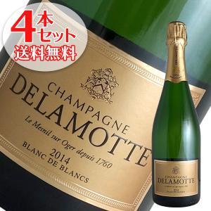 (送料無料)4本セット ドゥラモット ブラン ド ブラン ミレジム 2012年 ドゥラモット(シャンパン)(箱無し)(正規品) winecellarescargot