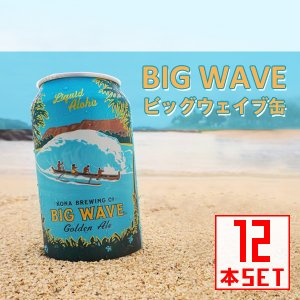 コナビール ビッグウェーヴ ゴールデンエール 缶355mlx12本 ハワイアンビール|winecellarescargot